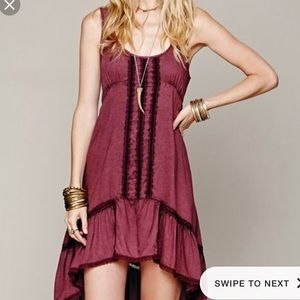 Free People purple high low dress